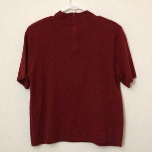 Koret Tops - Vintage mock neck short sleeve shirt